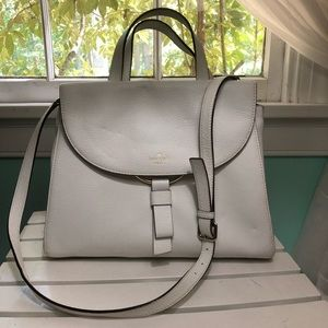 Kate Sade White Handbag